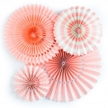 Fold Paper Fans For Party Decorations Set Of 4  Six Colours