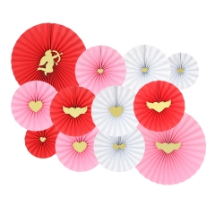 Valentines' Day Wholesale Fold Paper Fans