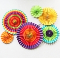 Hanging Paper Fan Decoration, Wedding/Birthday/Christmas Decor,Party/Events Decor, Home Decor Supplies Flavor