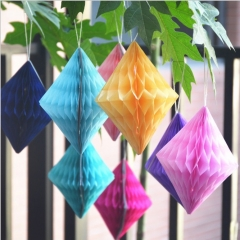 Tissue Paper Diamond Honeycomb Balls