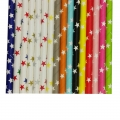 Star Printed Paper Straws Wholesale