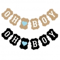 Paper Decorations Baby Shower Banner oh Boy