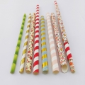 Customized Paper Straws Fixed Logo and designs 10000PCS MOQ DIA. 4mm,5mm 6mm 8mm 10mm,12mm