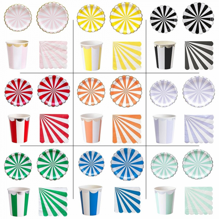 Party Supplies Set Disposable Tableware