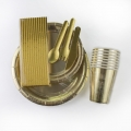 Stock Gold Paper Tableware Wholesale -Get Free Sample Now