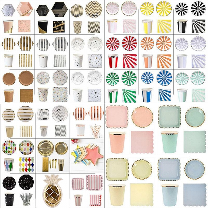Buy Disposable Party Tableware Kit Party Supplies Wholesale
