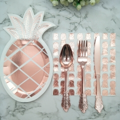 paper Disposable Tableware Pineapple Paper Plates