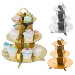 Foil Gold Paper Cake Stand